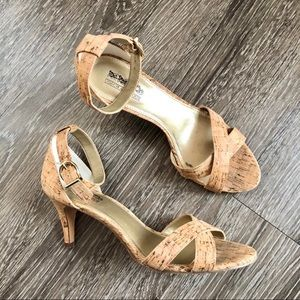 Coach and Four- Classic Cork Heels Size 6